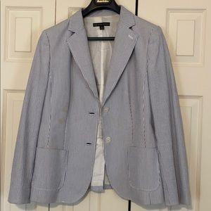 Brooks Brothers Womens Seersucker blazer Size 12